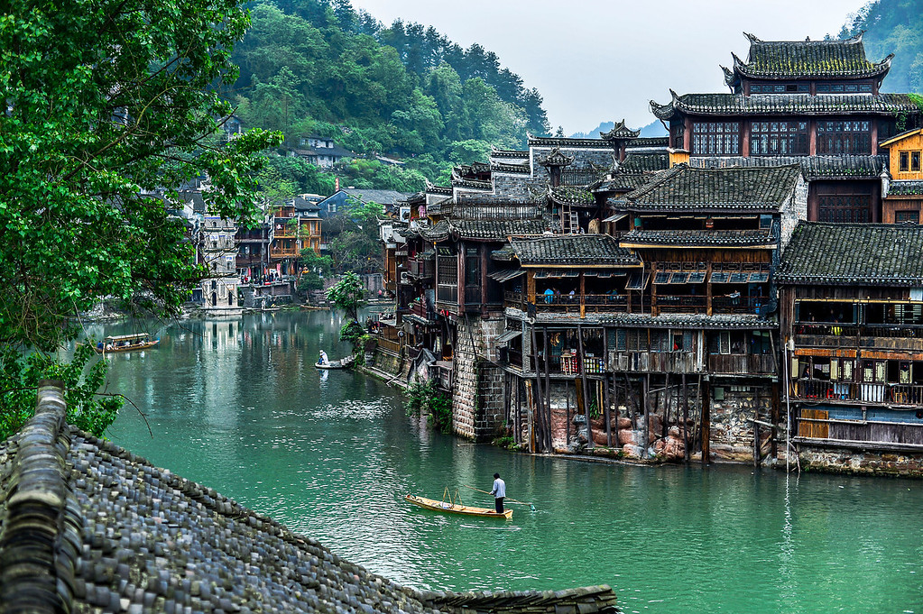 Entering the Heart of Fenghuang City
